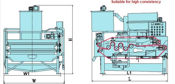 Thiết kế máy ép bùn băng tải